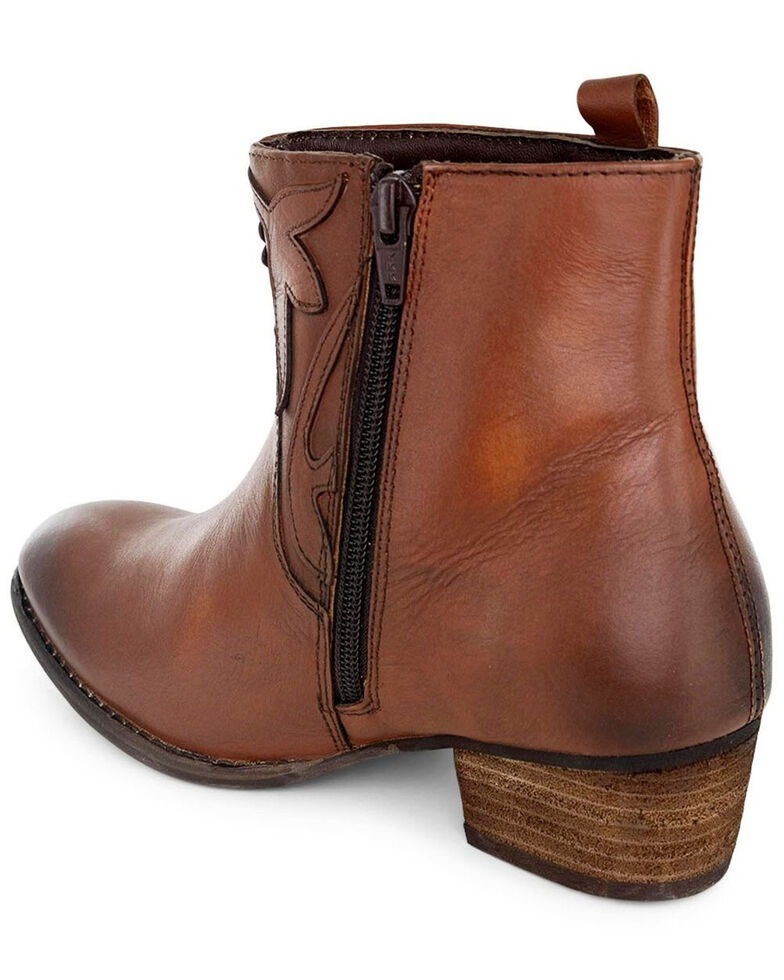Roan by Bed Stu Women's Elsia Fashion Booties - Round Toe, Tan, hi-res