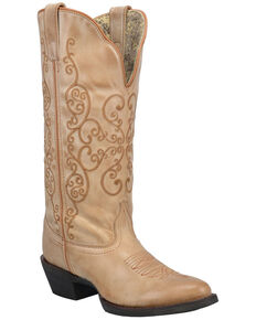 Laredo Women's Lindy Western Boots - Round Toe, Tan, hi-res