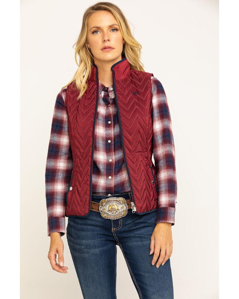 Ariat Women's Cabernet Ashley Vest, Wine, hi-res