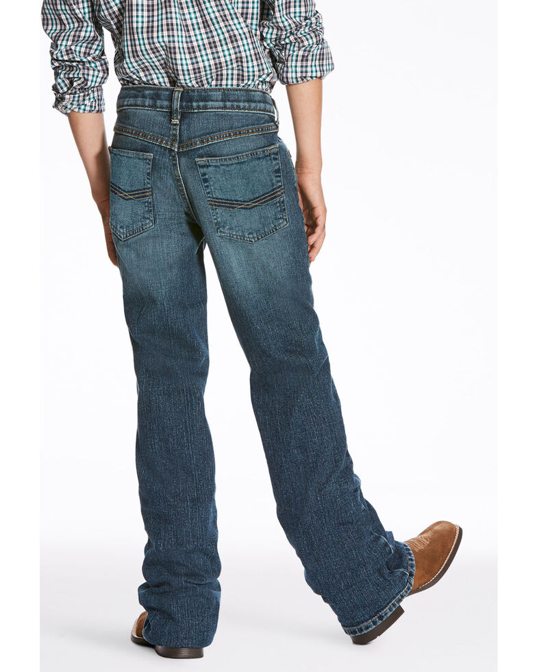 Ariat Boys' B4 Kilroy Legacy Stretch Relaxed Boot Jeans , Blue, hi-res
