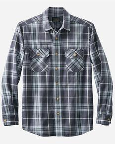 Pendleton Men's Blue Beach Shack Plaid Long Sleeve Button-Down Western Shirt , Blue, hi-res