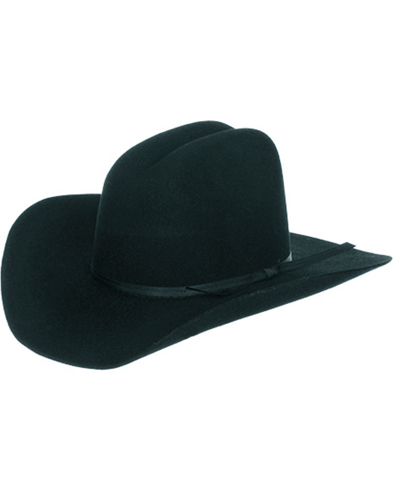 a5088e4a111 Master Hatters Boys  Black Fox 3X Wool Felt Cowboy Hat - Country ...