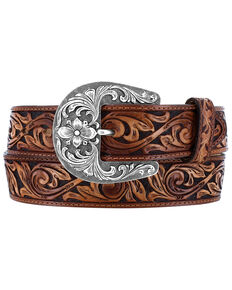 Tony Lama Men's De Leon Western Belt, Brown, hi-res