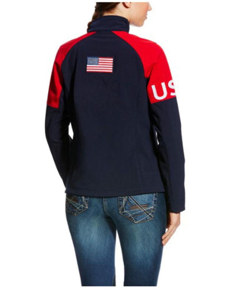 Ariat Women's USA Team Global Softshell Jacket , Navy, hi-res