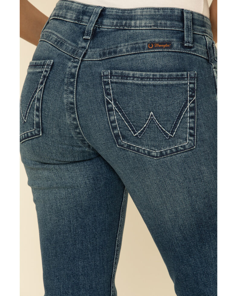 Wrangler Women's Ultimate Riding Aubrey Q-Baby Bootcut Jeans , Blue, hi-res