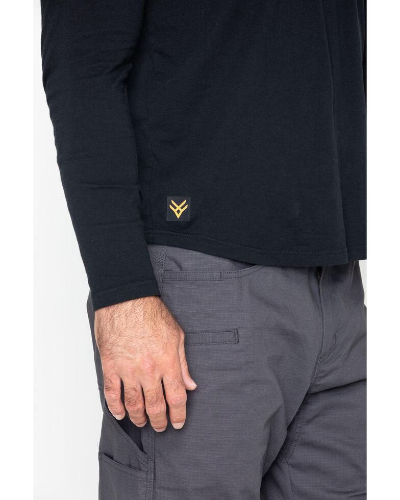 Hawx Men's Solid Pocket Crew Tee - Big , Black, hi-res