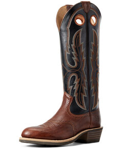 Ariat Men's Heritage Stockyard Western Boots - Round Toe, Brown, hi-res