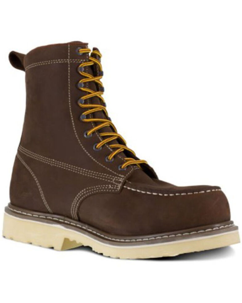 Iron Age Men's Solidifier Waterproof Work Boots - Composite Toe, Brown, hi-res