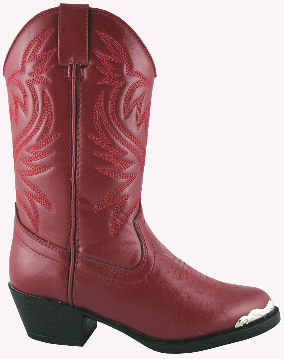 Smoky Mountain Youth Girls' Mesquite Western Boots - Round Toe, Red, hi-res