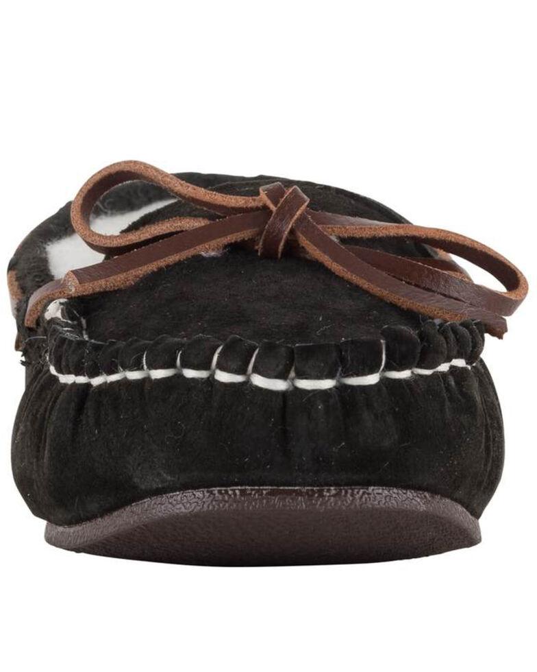 Lamo Footwear Black Women's Britain Moc II Wide Slippers - Moc Toe, Black, hi-res