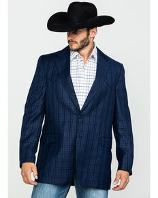 Cripple Creek Men's Window Pane Plaid Houston Sport Coat , Blue, hi-res