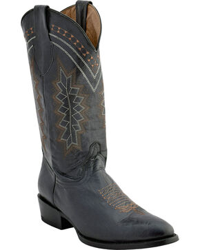 Ferrini Men's Apache Western Boots - Pointed Toe , Black, hi-res