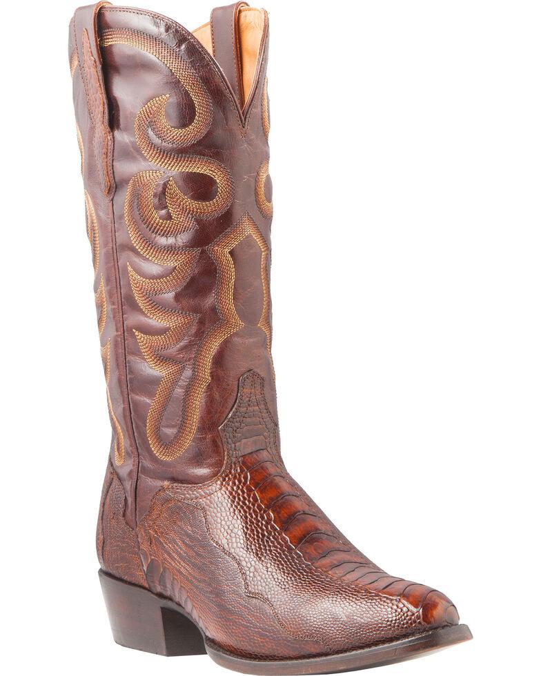 efffeed5f62f7 El Dorado Men s Handmade Ostrich Leg Brass Western Boots - Medium ...