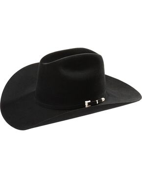 Resistol Black Gold Low Crown 20X Fur Felt Cowboy Hat, Black, hi-res