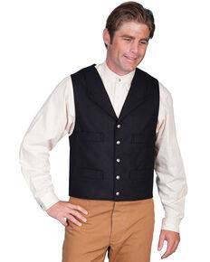 Wahmaker by Scully Wool Blend Four Pocket Vest, Black, hi-res