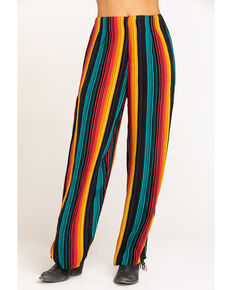 Rock & Roll Denim Women's Serape Wide Leg Pants, Multi, hi-res
