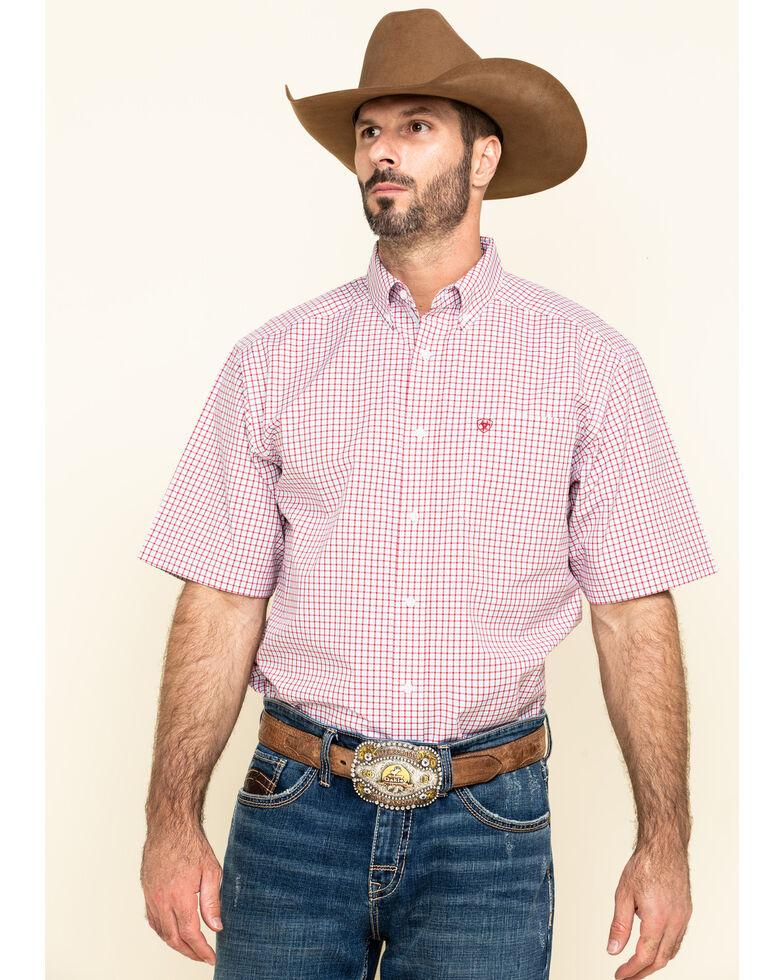 Ariat Men's Norland Multi Plaid Short Sleeve Western Shirt - Big , Multi, hi-res