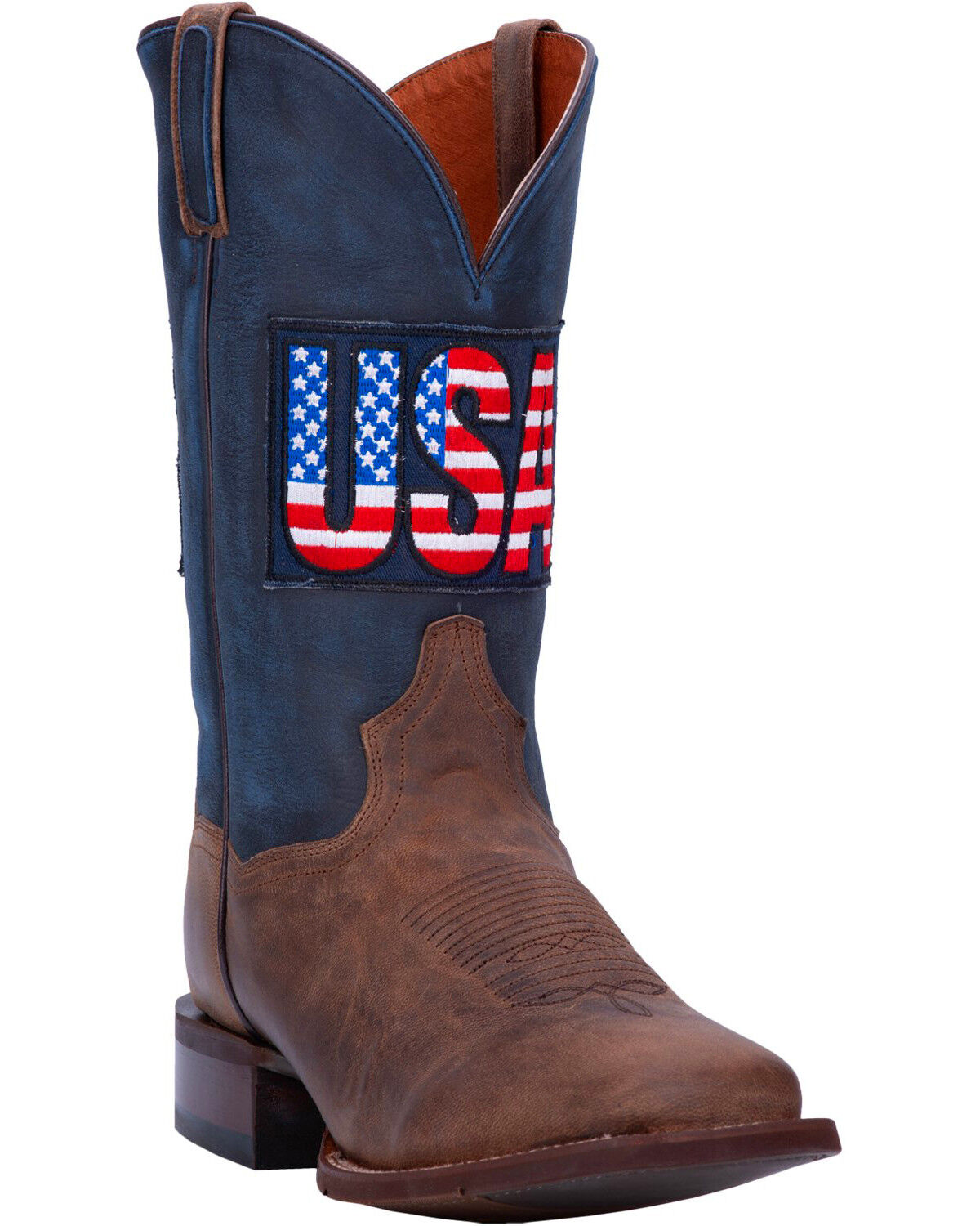 Dan Post Men\u0027s USA Sand Goat Western Boots , Wide Square Toe