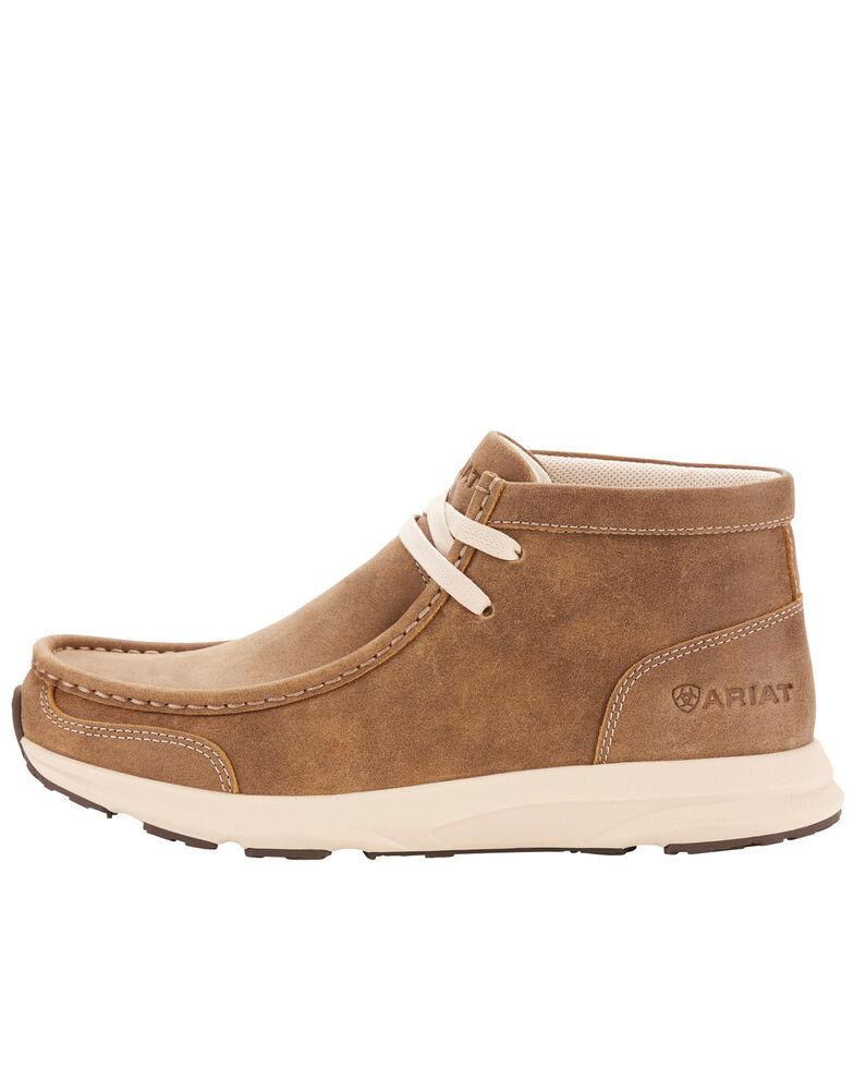 Ariat Women's Spitfire Brown Bomber Boots - Moc Toe, Brown, hi-res