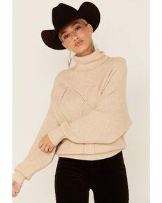 Molly Bracken Women's Oatmeal Turtleneck Sweater, Oatmeal, hi-res