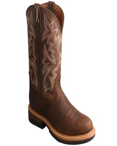 Twisted X Men's Lite Western Work Boots - Round Toe, Taupe, hi-res