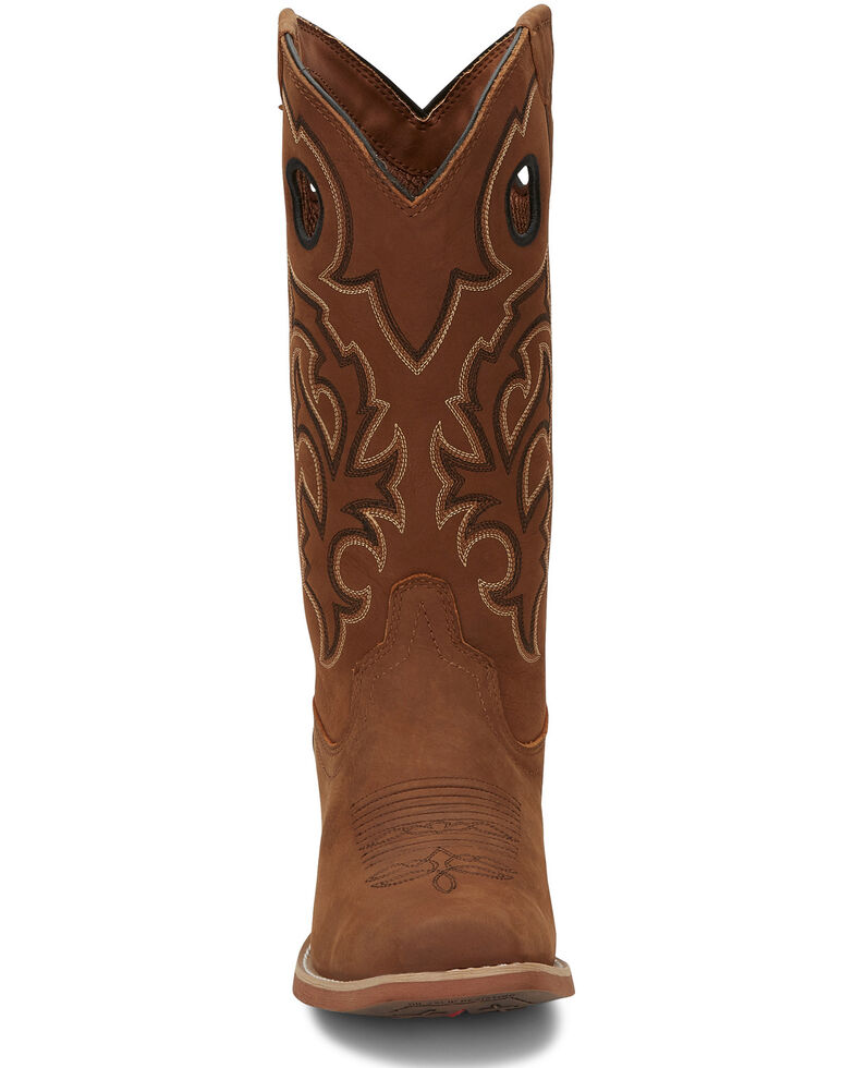 Justin Men's Puncher Tan Western Boots - Square Toe, Tan, hi-res