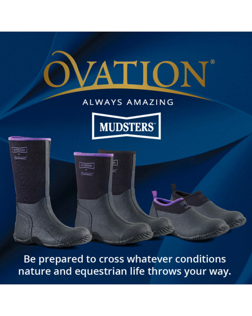 Ovation Women's Mudster Tall Barn Boots, Black, hi-res