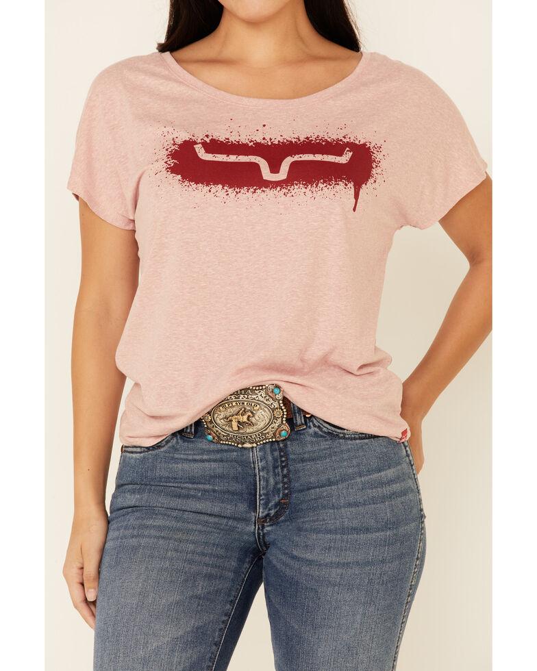 Kimes Ranch Women's Splatter Tee, Pink, hi-res