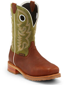 Justin Men's Marshal Agave Western Work Boots - Steel Toe, Cognac, hi-res