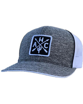 Armadillo Hat Co. Men's AHC Patch Baseball Cap, Heather Grey, hi-res