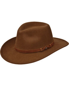 Black Creek Men's Pecan Crushable Wool Hat  , Pecan, hi-res
