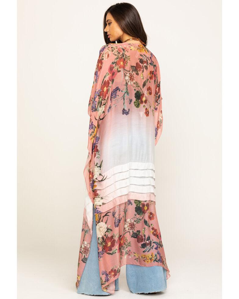 Aratta Women's Pink Floral Ombre Kimono , Pink, hi-res