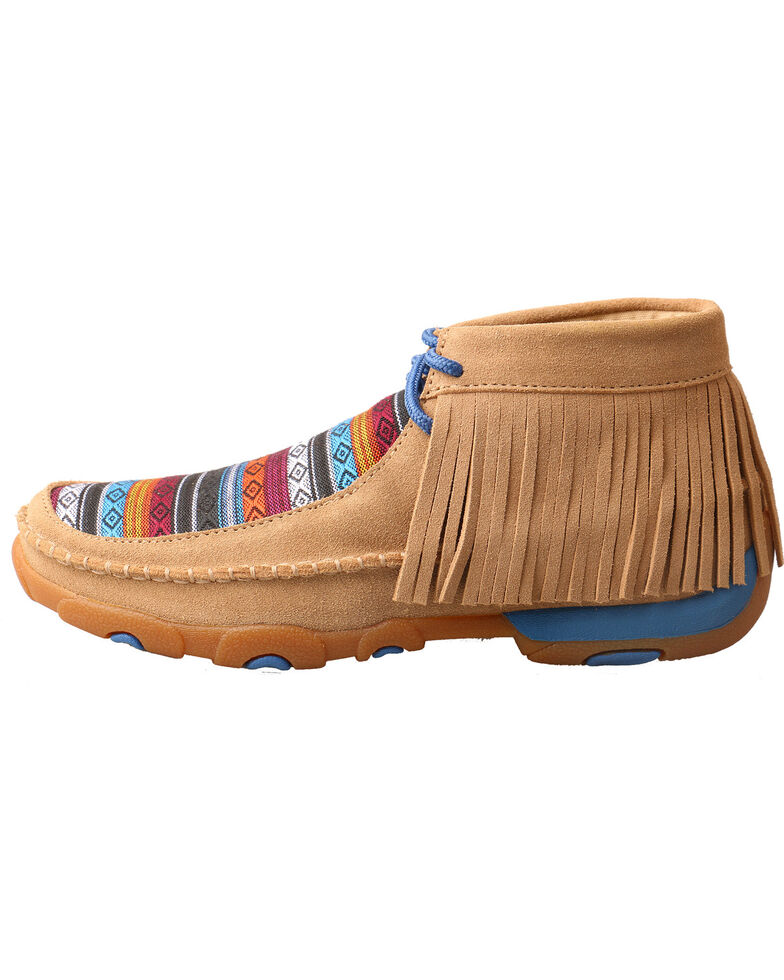 Twisted X Youth Girls' Driving Moccasins - Round Toe, Multi, hi-res