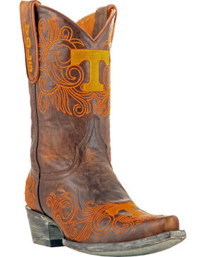 Gameday Boots Women's University of Tennessee Short Western Boots - Snip Toe, Brass, hi-res