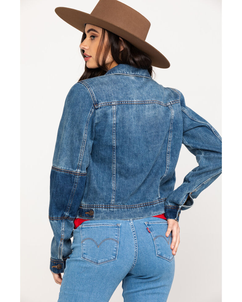 Free People Women's Rumors Denim Jacket, Blue, hi-res