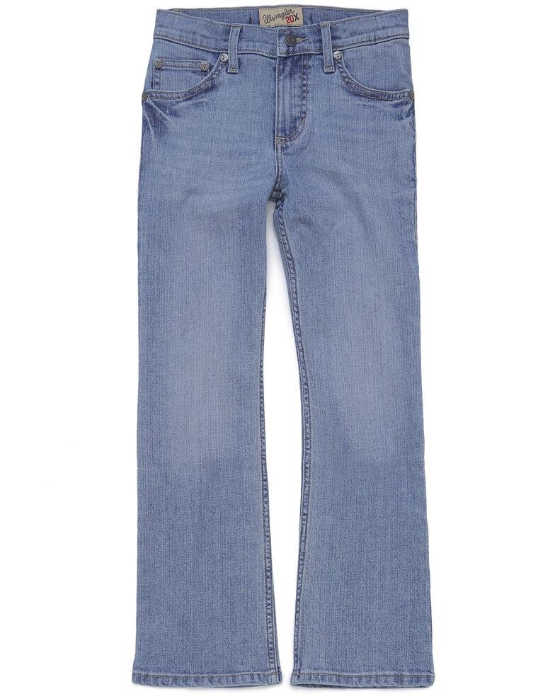Wrangler 20X Boys' Taft Boot Cut Jeans, Blue, hi-res