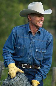 Schaefer Abilene Denim Work Shirt, Denim, hi-res