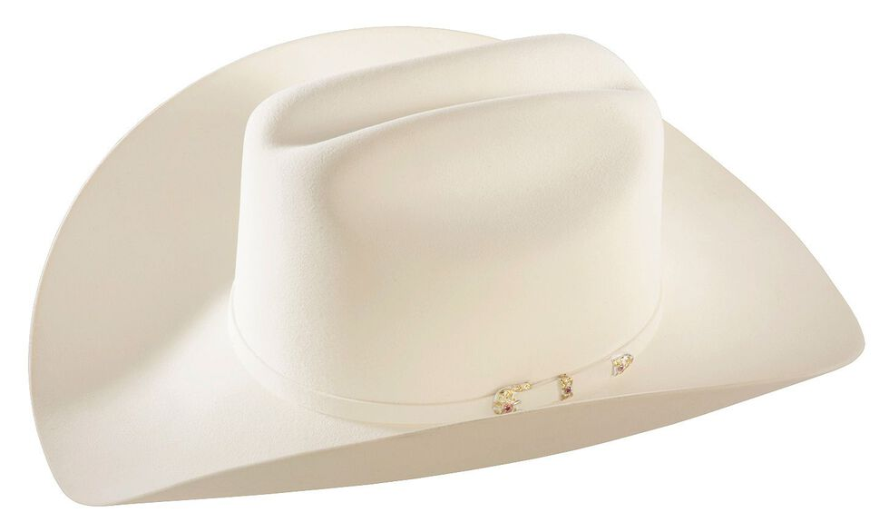 Larry Mahan 30X Magno White Fur Cowboy Hat, White, hi-res