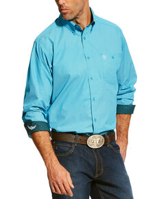 Ariat Men's Turquoise Victorious Print Western Shirt , White, hi-res