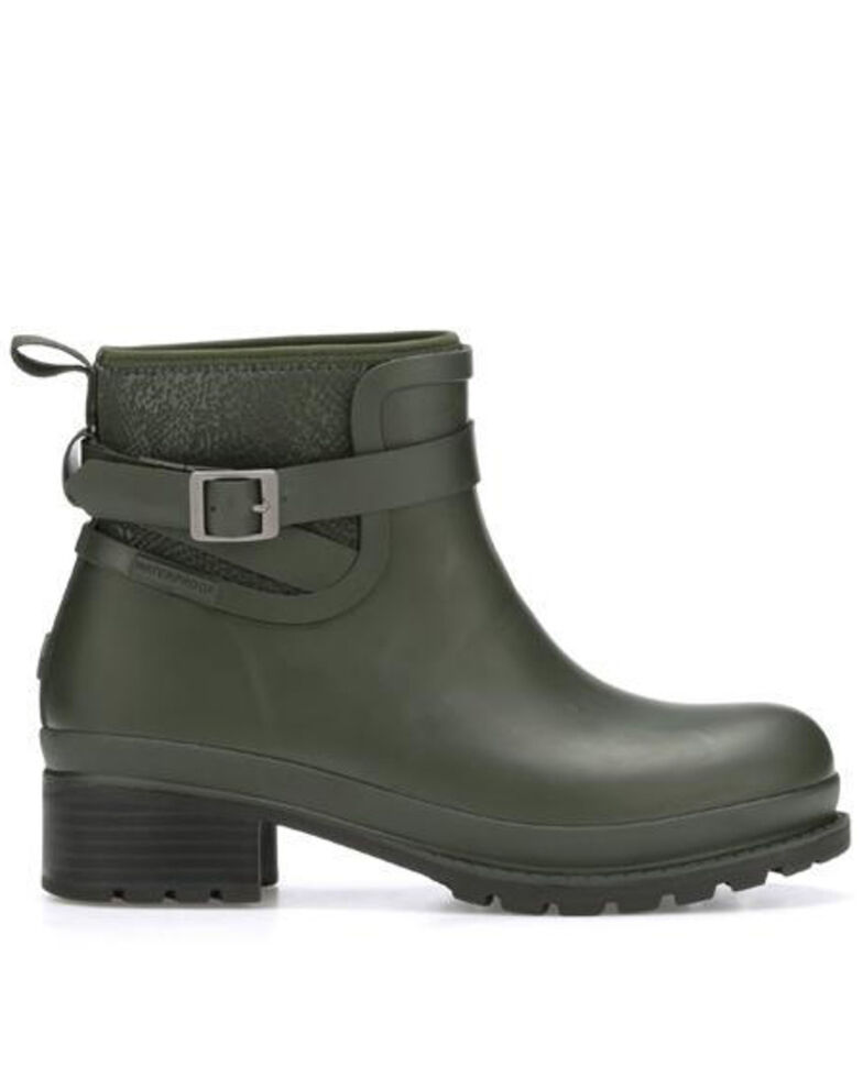 Muck Boots Women's Liberty Ankle Rubber Boots - Round Toe, Moss Green, hi-res
