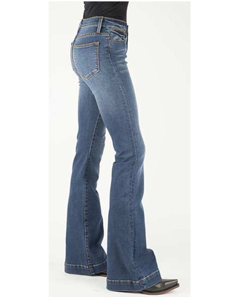 Stetson Women's High-Rise Flare Jeans, Blue, hi-res