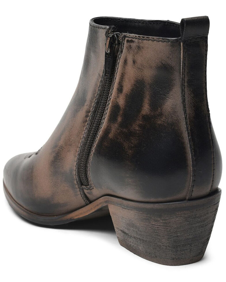 Roan By Bed Stu Women's Black Aggie Western Fashion Booties - Round Toe, Black, hi-res