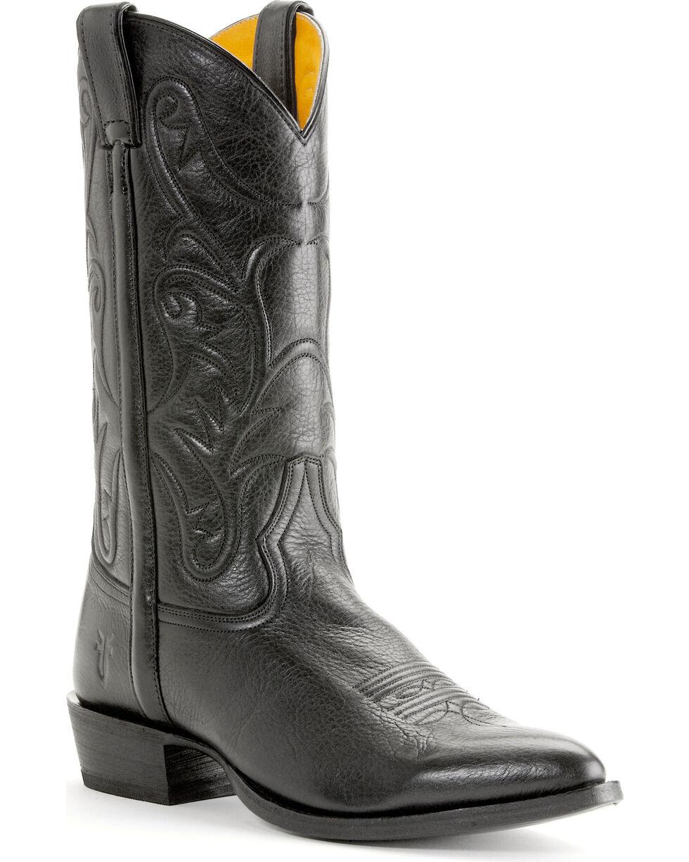 Frye Bruce Pull On Western Boots, Black, hi-res
