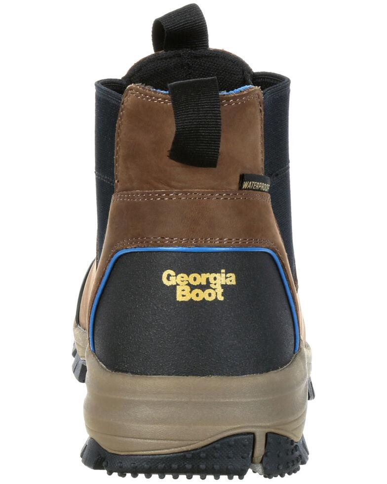 Georgia Boot Men's Blue Collar Waterproof Work Romeo Boots - Soft Toe, Dark Brown, hi-res