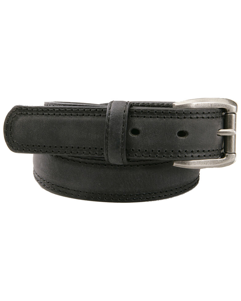 AndWest Boys' Black Roller Buckle Belt, Black, hi-res