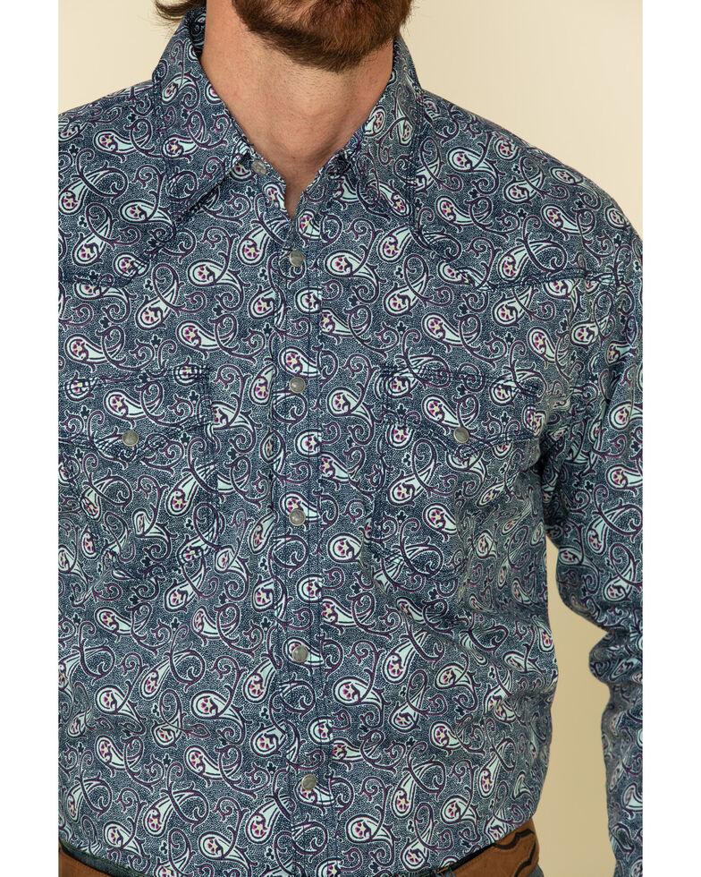 Wrangler 20X Men's Advanced Comfort Black Paisley Print Long Sleeve Western Shirt , Black, hi-res