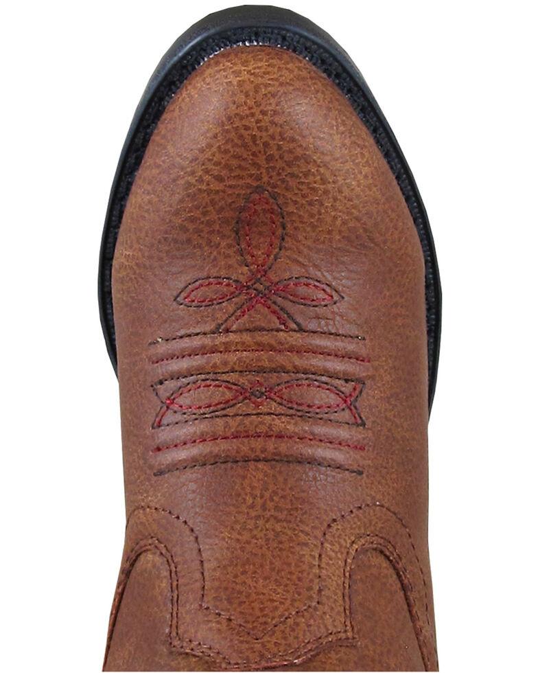 Smoky Mountain Girls' Rustler Western Boots - Round Toe, Brown, hi-res