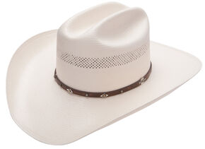 Stetson Lobo 10X Straw All-Around Vent Star Concho Band Cowboy Hat 6fe324c7aaa