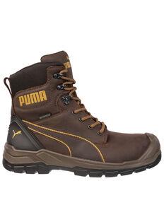 Puma Men's Conquest CTX Waterproof Work Boots - Composite Toe, Brown, hi-res
