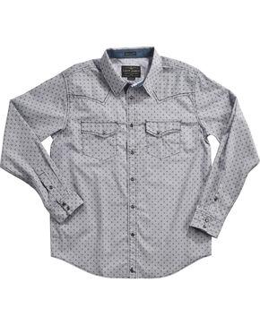 Cody James Men's Compass Printed Long Sleeve Shirt, Navy, hi-res